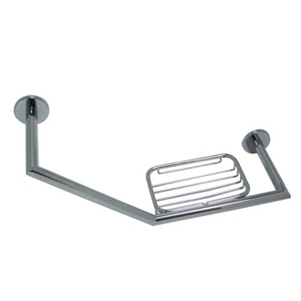 Shower Grab Bar Wall Mounted Brass Shower Grab Bar With Soap Dish 233 14 StilHaus 233 14