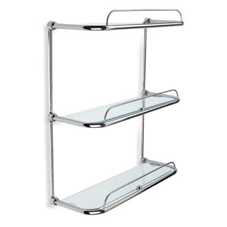 Triple Glass Bathroom Shelf StilHaus 515
