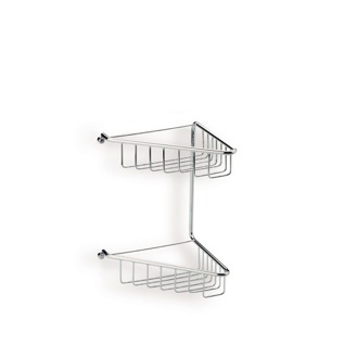 Shower Basket Chrome Wire Corner Double Shower Basket 570 StilHaus 570