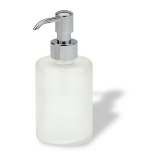 Soap Dispenser Round Colored Frosted Glass Soap Dispenser 580 StilHaus 580