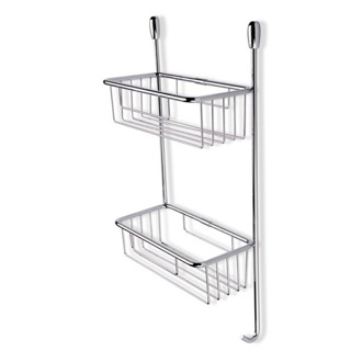 Shower Basket Chrome Wire Corner Double Shower Basket 822 StilHaus 822