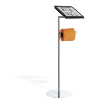 Toilet Paper Holder Floor Standing Toilet Roll Holder With Tablet Holder 966 StilHaus 966
