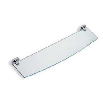Clear Glass Bathroom Shelf with Brass Holder StilHaus DI04