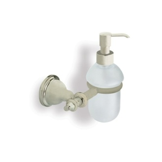 Soap Dispenser Satin Nickel Classic Style Wall Mounted Glass Soap Dispenser StilHaus EL30-36