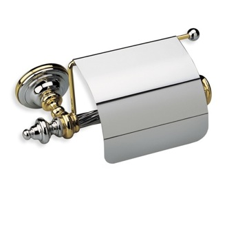 Toilet Paper Holder Classic-Style Brass Toilet Roll Holder with Cover G11C StilHaus G11C