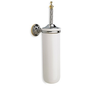 Wall Mounted Round Classic-Style Ceramic Toilet Brush Holder StilHaus G12