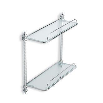 Bathroom Shelf Double Glass Bathroom Shelf StilHaus G694