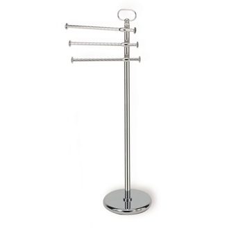Towel Stand Free Standing Classic-Style Brass Towel Stand StilHaus G696