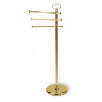 Towel Stand Gold Free Standing Classic-Style Brass Towel Stand G696-16 StilHaus G696-16