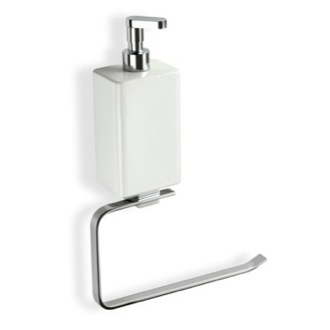 Towel Ring Chrome Towel Holder With White Soap Dispenser GE79D StilHaus GE79D