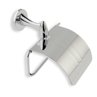 Chrome Toilet Roll Holder with Cover StilHaus H11C-08
