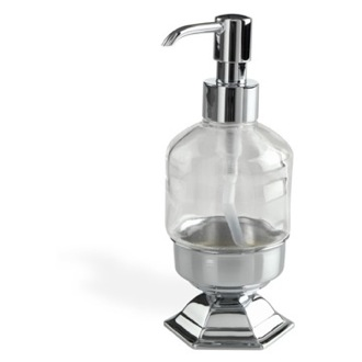 Soap Dispenser Contemporary Free Standing Crystal Glass Liquid Soap Dispenser StilHaus MA30AP