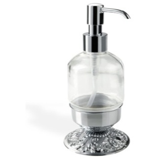 Soap Dispenser Round Free Standing Crystal Glass Liquid Soap Dispenser NT30AP StilHaus NT30AP