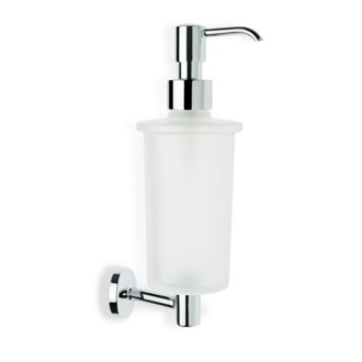 Soap Dispenser Wall Mounted Frosted Glass Soap Dispenser with Brass P30-08 StilHaus P30-08