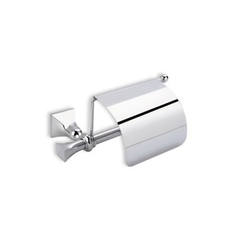 Toilet Paper Holder Classic-Style Brass Toilet Roll Holder with Cover PR11C StilHaus PR11C