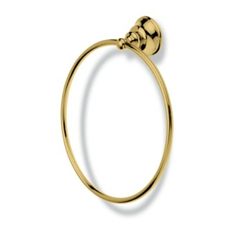 Contemporary Gold Finish Brass Towel Ring StilHaus SM07-16