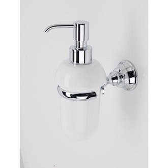 Soap Dispenser White Ceramic Soap Dispenser with Chrome Brass Mounting StilHaus SM30-08