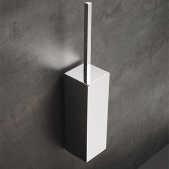 Wall Mounted Square Brass Toilet Brush Holder StilHaus U039M
