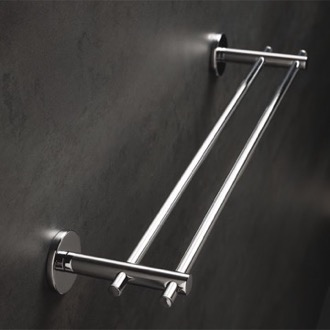 Chrome 18 Inch Double Towel Bar Made in Brass StilHaus VE45.2-08