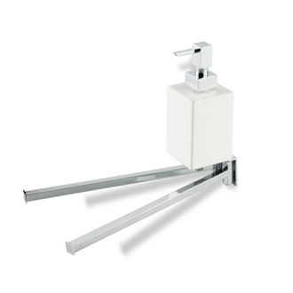 Swivel Towel Bar 13 Inch Double Towel Bar with Ceramic Soap Dispenser U18 StilHaus U18