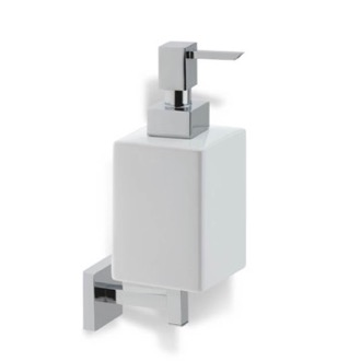 Soap Dispenser Wall Mounted Square White Ceramic Soap Dispenser StilHaus U30