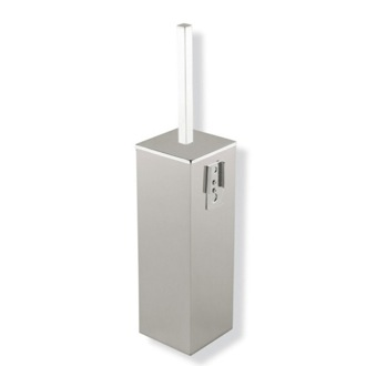 Satin Nickel Wall Mounted Square Brass Toilet Brush Holder StilHaus U039M-36
