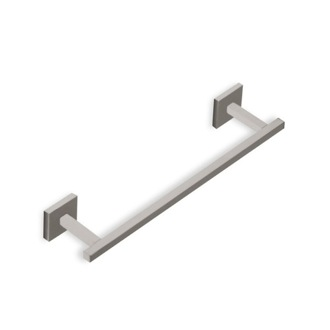 Towel Bar 12 Inch Square Towel Bar in Satin Nickel StilHaus U06-36