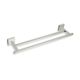 Double Towel Bar 12 Inch Square Double Towel Bar in Satin Nickel StilHaus U06.2-36