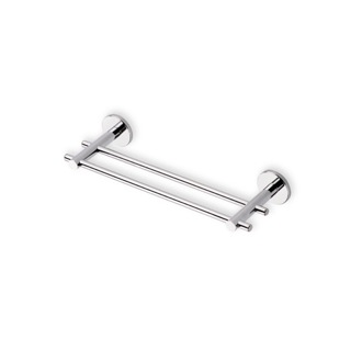 Double Towel Bar Chrome 12 Inch Double Towel Bar Made in Brass StilHaus VE06.2-08