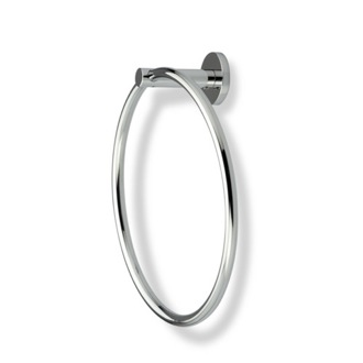 Round Chrome or Satin Nickel Towel Ring StilHaus VE07