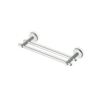 Double Towel Bar Satin Nickel 12 Inch Double Towel Bar Made in Brass StilHaus VE06.2-36