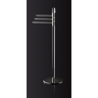 Towel Stand Free Standing Plexiglass Towel Stand with Chrome Base 0734/C Toscanaluce 0734/C