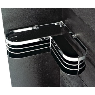 Shower Basket Chromed Brass And Plexiglass Corner Shower Basket 1311 Toscanaluce 1311