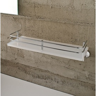 Bathroom Shelf Frosted Glass 13 Inch Bath Bathroom Shelf With Railing 1511 Toscanaluce 1511