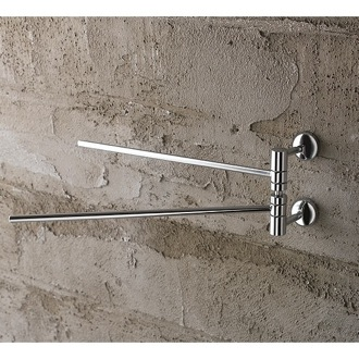 Swivel Towel Bar 12 Inch Polished Chrome Double Arm Swivel Towel Bar 1519 Toscanaluce 1519