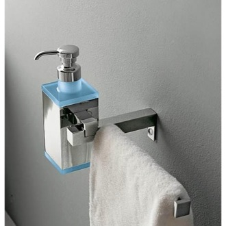Soap Dispenser Wall Mounted Square Brass Soap Dispenser with Towel Rail 4528 Toscanaluce 4528