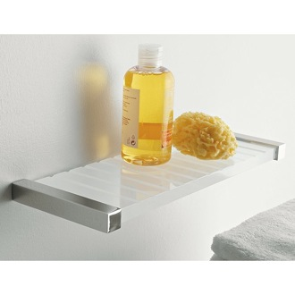 Bathroom Shelf Square Plexiglass 14 Inch Bathroom Shelf 4540 Toscanaluce 4540