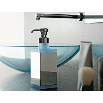 Soap Dispenser Square Brass and Plexiglass Soap Dispenser 4563 Toscanaluce 4563