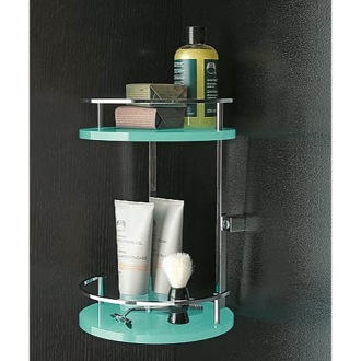 Shower Basket Round Plexiglass And Brass Double Corner Shower Basket 4583 Toscanaluce 4583