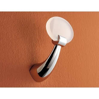 Bathroom Hook Round Brass and Plexiglass Robe Hook 5524 Toscanaluce 5524