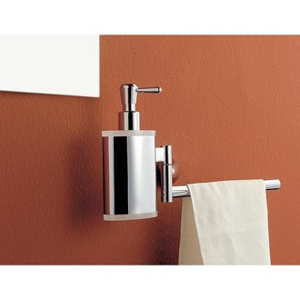 Soap Dispenser 13 Inch Chrome Towel Bar with Brass Soap Dispenser 5528 dx/sx Toscanaluce 5528 dx/sx