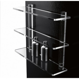Bathroom Shelf 16 Inch Triple Tier Plexiglass Bathroom Shelf 601/40 Toscanaluce 601/40