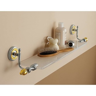 Bathroom Shelf 28 Inch Classic-Style Frosted Glass Bath Bathroom Shelf 6513 Toscanaluce 6513