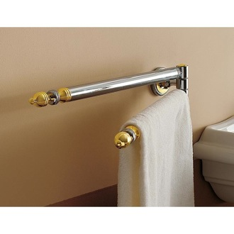 Towel Bar 18 Inch Classic-Style Double Arm Swivel Towel Bar Toscanaluce 6519