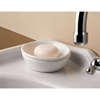 Soap Dish Classic-Style Round Ceramic Soap Dish Toscanaluce 6871