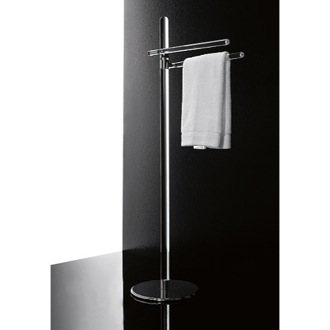 Towel Stand Free Standing Plexiglass Towel Stand With Chrome Base 780 Toscanaluce 780