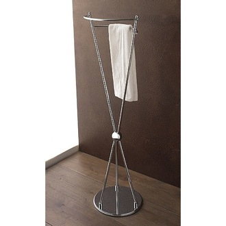 Towel Stand Free Standing Polished Chrome Towel Stand 807 Toscanaluce 807