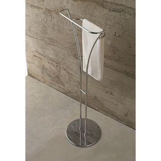 Towel Stand Free Standing Polished Chrome Towel Stand 827 Toscanaluce 827
