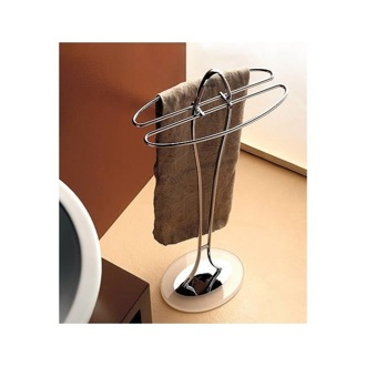 Towel Stand Free Standing Towel Stand with Plexiglass Base 897 Toscanaluce 897