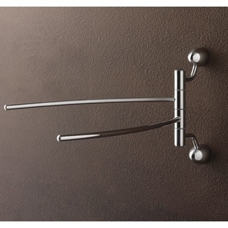 Swivel Towel Bar Chrome Double Swivel Towel Bar with Two Wall Mounts 9019 BIS Toscanaluce 9019 BIS